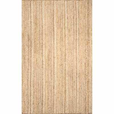 Handmade Flatweave Jute Tan Area Rug - 9' x 12' - Wayfair