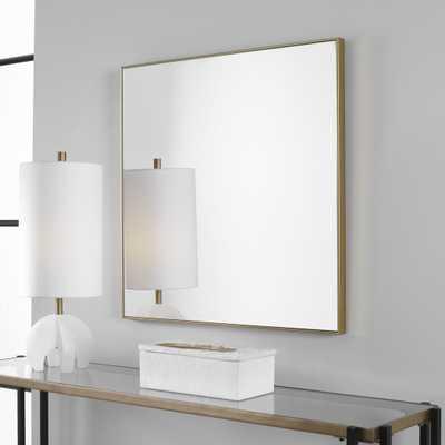 Alexo Gold Square Mirror - Hudsonhill Foundry