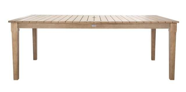 Dominica Wooden Outdoor Dining Table - Natural - Arlo Home - Arlo Home