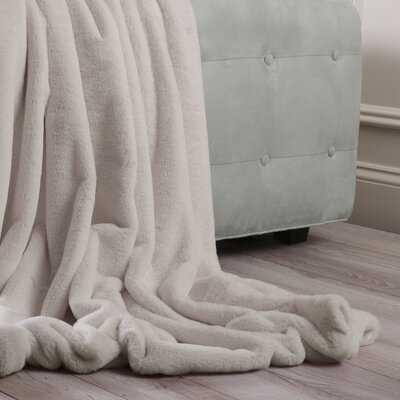 Hugues Faux Fur Throw Blanket - Birch Lane