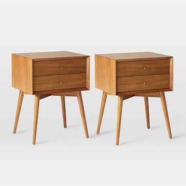 Mid-Century Nightstand , Acorn, Set of 2 - West Elm