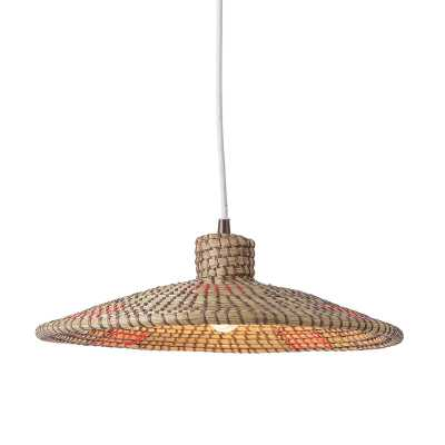 Sonder Living Nellcote Dome Pendant with Wood Accents - Perigold