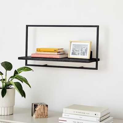 Shelfmate Black & Black A, Long Horizontal Wall Shelf - West Elm