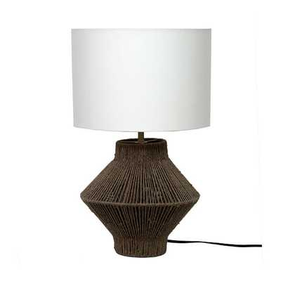 Handwoven Jute Table Lamp, Natural - West Elm