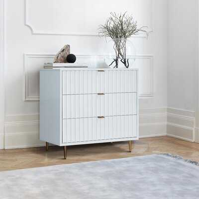 Miesha 3 - Drawer Metal Bachelor's Chest - Wayfair