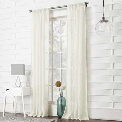 Appalachia Solid Sheer Rod Pocket Single Curtain Panel - Birch Lane