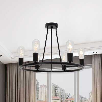 6 - Light 22.5'' Chandelier Style Globe Semi Flush Mount - Wayfair