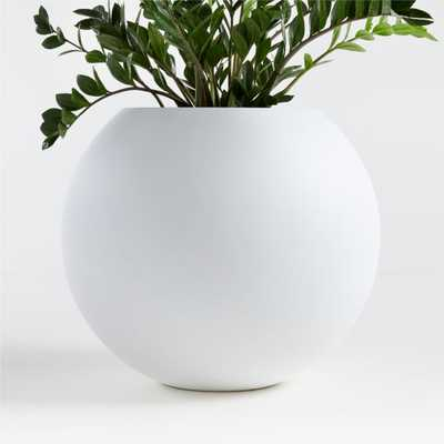 Sphere Large White Planter - Crate and Barrel
