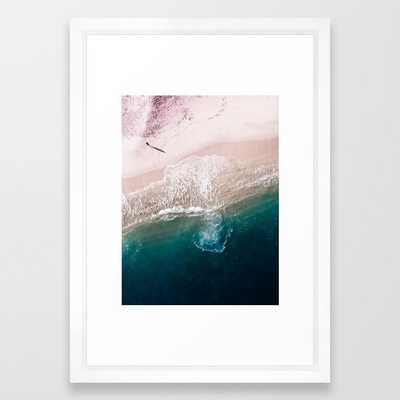 Ocean Walk V Framed Art Print by Ingrid Beddoes Photography - Vector White - SMALL-15x21 - Society6