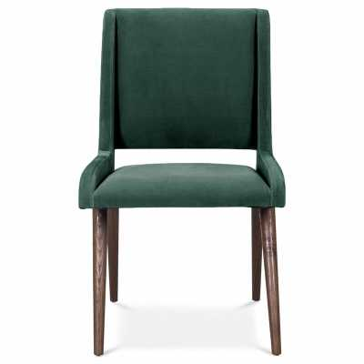 Mid Century Upholstered Dining Chair Upholstery Color: Hunter Green, Leg Color: Dark Walnut - Perigold