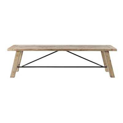 Maiorano Wood Bench - Wayfair