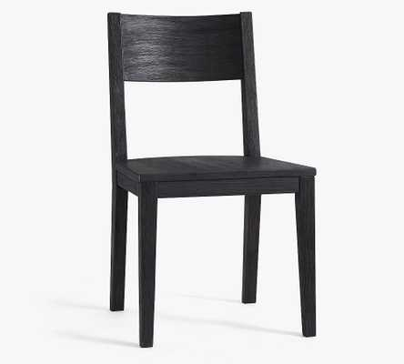 Menlo Wood Dining Chair, Blackened Oak - Pottery Barn