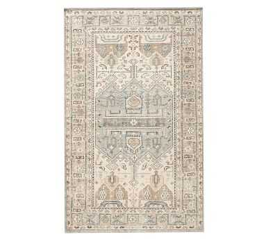 Nicolette Hand-Knotted Rug, Cool Multi, 8 x 10' - Pottery Barn