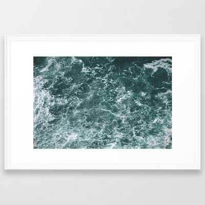 Ocean Ii Framed Art Print by Hannah Kemp - Scoop White - LARGE (Gallery)-26x38 - Society6