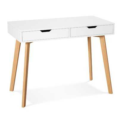 Writing Computer Desk, Laptop Notebook PC Workstation With 2 Drawers, Simple Study Makeup Vanity Table Modern Furniture For Home Office, White - Wayfair