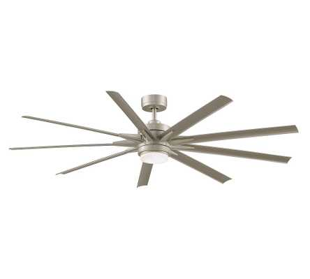 """Odyn 72"""" Ceiling Fan Brushed Nickel with Brushed Nickel Blades - Pottery Barn"""
