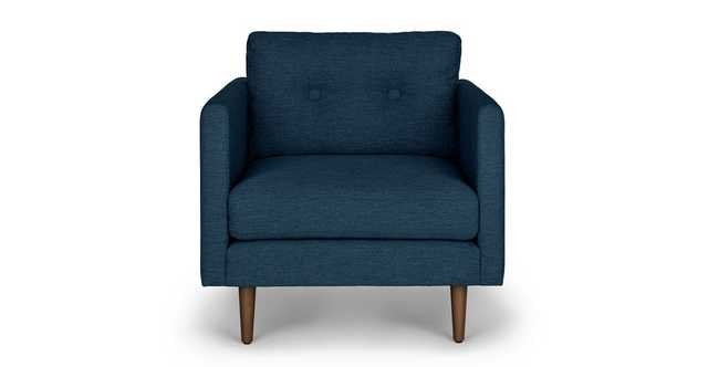 Anton Twilight Blue Lounge Chair RESTOCK Late May 2021 - Article