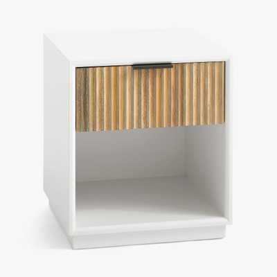 west elm x pbt Quinn Nightstand, White & Cerused White, White Glove Delivery - Pottery Barn Teen