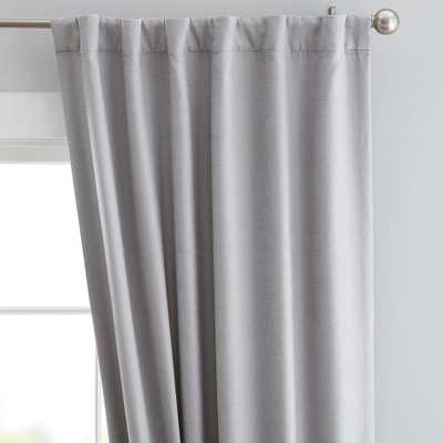 "Cotton Chenille Curtain Panel, 44"" x 108"", Light Gray - Pottery Barn Teen"