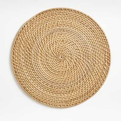 Artesia Natural Round Placemat - Crate and Barrel