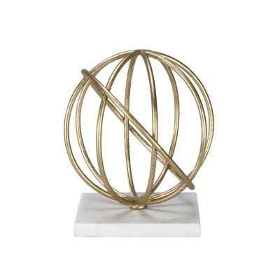 Worlds Away Quincy Sphere Sculpture Color: Gold - Perigold