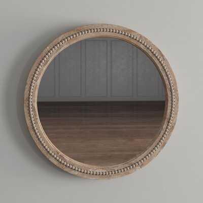 Elle Round Wood Accent Mirror - Wayfair