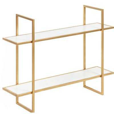 Hirsch 2 Piece Metal Accent Shelf - Wayfair