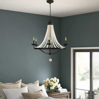Omaha 6 - Light Candle Style Empire Chandelier with Beaded Accents - Wayfair