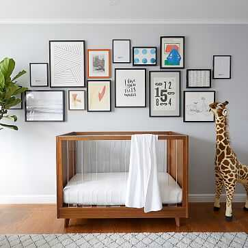 Sloan Standard Crib, Guard Rail Conversion Kit, Acorn - West Elm