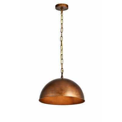 Nederland 1-Light Single Dome Pendant - Birch Lane