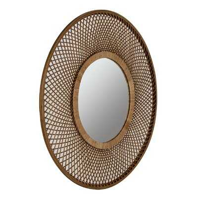 Haroun Rattan Wall Mirror - Wayfair