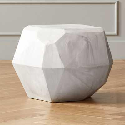 Facet Cement Side Table - CB2