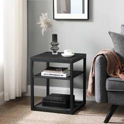 Cladia Floor Shelf End Table with Storage - Wayfair