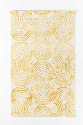 Hand-Tufted Sanna Rug By Anthropologie in Yellow Size 5X8 - Anthropologie