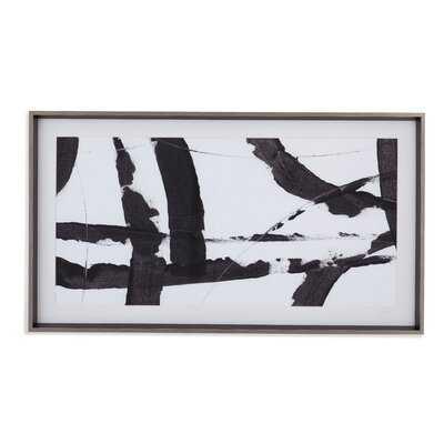 Obsidian Harmony I' Framed Acrylic Painting Print - AllModern