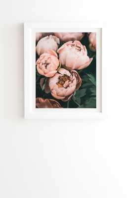 "Pastel Peony by Sisi and Seb - Framed Wall Art Basic White 20"" x 20"" - Wander Print Co."