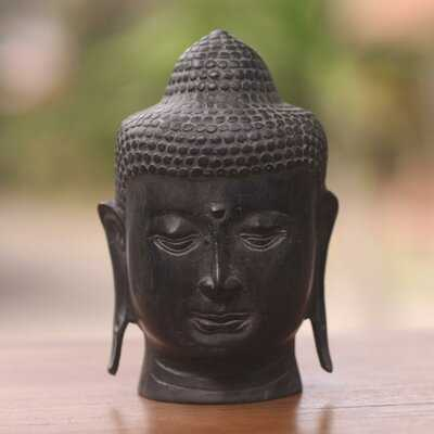 Lapwai Cast Bronze Buddha Head from Balinese Artisan Bust - Wayfair