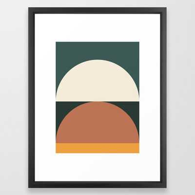 Abstract Geometric 01e Framed Art Print by The Old Art Studio - Vector Black - MEDIUM (Gallery)-20x26 - Society6