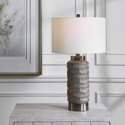 Uttermost Masonry Dark Bronze and Black Nickel Table Lamp - Style # 87N10 - Lamps Plus