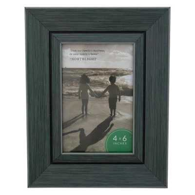 "Northlight 9.25"" Classical Rectangular 4"" x 6"" Photo Picture Frame - Gray and Black - Home Depot"