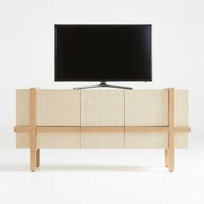 Sands Grasscloth Media Console - Crate and Barrel