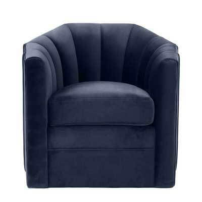 Delancey Barrel Chair Upholstery Color: Blue - Perigold