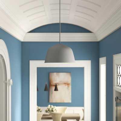 """Muuto Ambit 1 - Light Unique / Statement Dome Pendant Shade Color: Gray, Size: 6"""" H x 10"""" W X 10"""" D - Perigold"""
