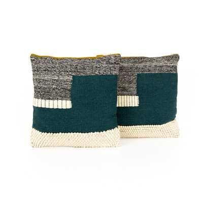 "Four Hands Color Block Pillow, Set Of 2 - 24"" - Perigold"