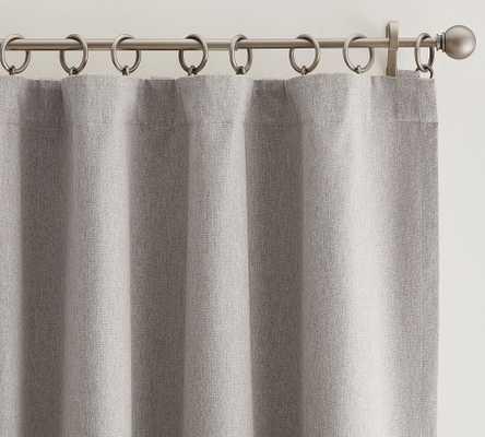 """Peace & Quiet Noise-Reducing Curtain, 50"""" x 96"""", Gray - Pottery Barn"""