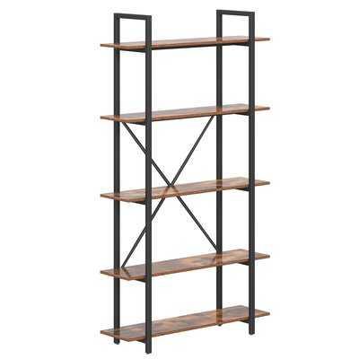 "Nwaba 70"" H x 39.4'' W Steel Etagere Bookcase - Wayfair"