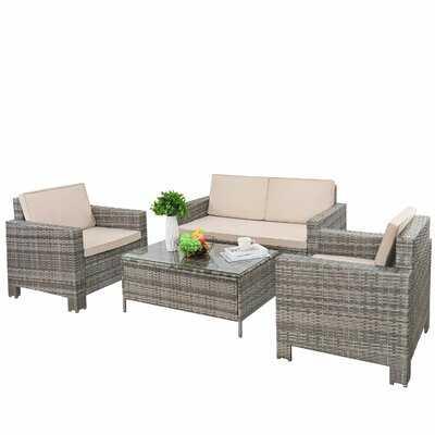 Abasi 5 Piece Rattan Sofa Seating Group - Wayfair