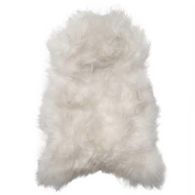 Alivia Modern Classic White Long Wool Sheepskin Rug - Kathy Kuo Home