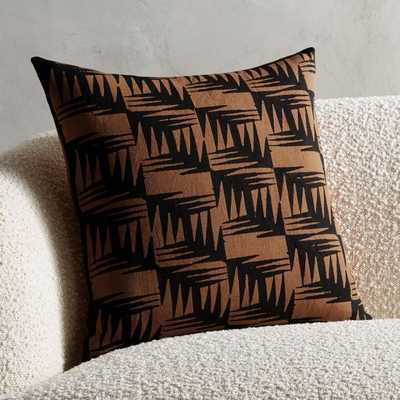 "18"" Chappana Copper Pillow with Down-Alternative Insert - CB2"