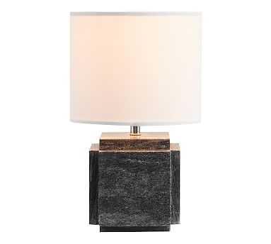 Amara Marble Table Lamp, Small, Black - Pottery Barn